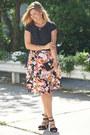 Coral-metrostyle-dress-black-zara-sandals