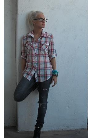 RVCA blouse - RVCA jeans - Paul Smith accessories