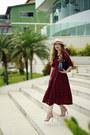 Maroon-dress