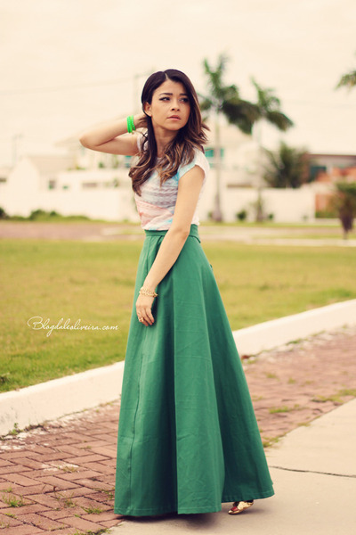Long Skirt With Blouse | Jill Dress