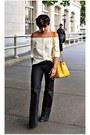 White-h-m-blouse
