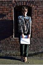 leather satchel Forever 21 bag - brown Topshop blouse
