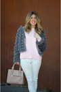Light-pink-zara-sweater-white-zara-pants