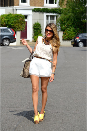 white abaday shorts