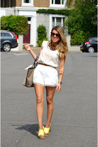 white abaday shorts