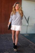 pearls Primark sweater - black Mango bag - beige Zara shorts