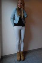 eggshell Zara jeans