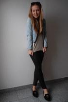 sky blue Zara jacket