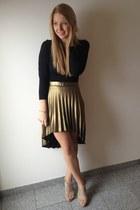 gold asos skirt