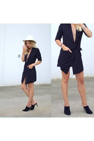 black asos heels