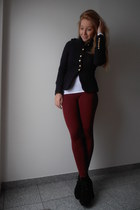brick red asos leggings