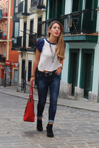 Zara boots - Zara jeans - Michael Kors bag - Uno de 50 necklace