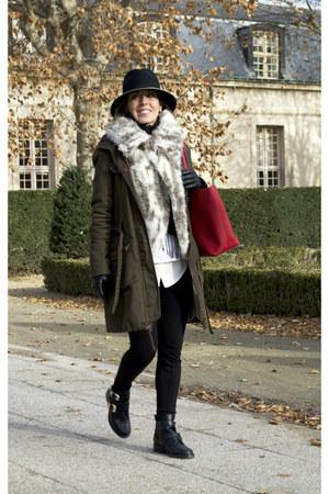 choiescom boots - Bershka coat - Michael Kors bag