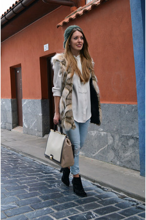 Furla bag - Choies vest