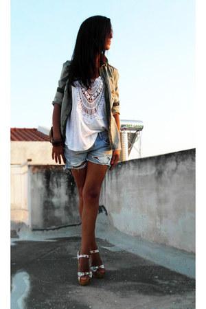 Zara t-shirt - Zara shirt - Zara wedges