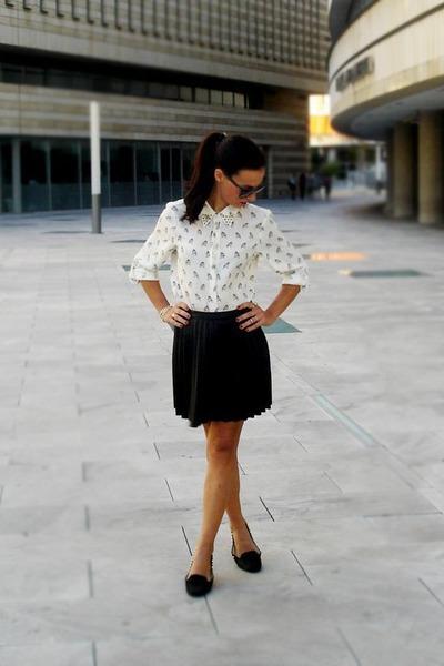 studs Zara shirt - studs Zara shoes - Stradivarius skirt