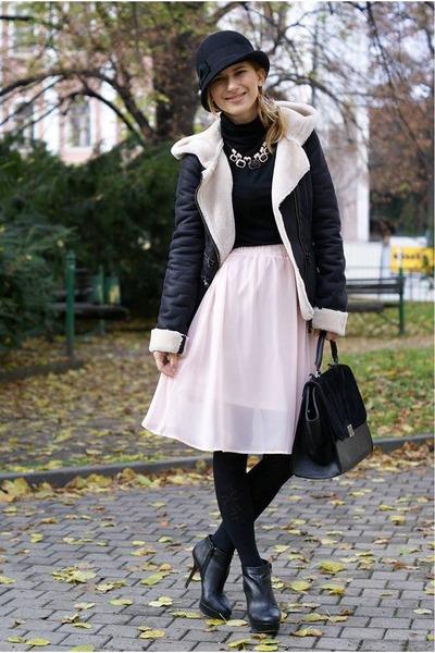 Zara jacket - Mango boots - lindex bag