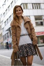 Vero Moda sweater - Tally Weijl coat - Mango bag - Tally Weijl skirt