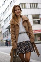 Vero Moda sweater - Tally Weijl coat - Mango bag - Tally Weijl skirt