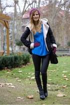 Zara jacket - Mango boots - lindex bag - New Yorker pants - F&F gloves