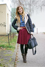 Ccc-boots-zara-jacket-lindex-bag-tally-weijl-blouse