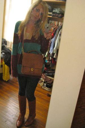 boots - coach purse