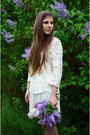 White-lace-h-m-blouse-ivory-lace-reserved-skirt