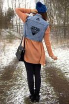 sky blue DIY vest
