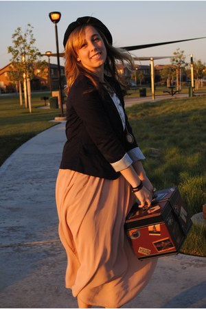 Gap blazer - American Apparel skirt - H&M blouse - American Eagle wedges