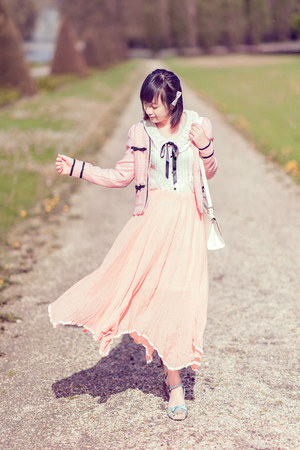maxi skirt Yesstyle skirt - white lace Mayuki shirt