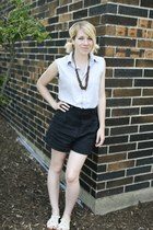 white Urban Outfitters shoes - black Urban Outfitters shorts - light blue Foreve