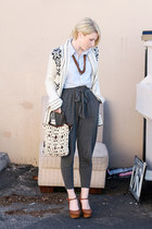 Urban Outfitters sweater - Forever 21 shirt - vintage purse - luluscom heels - F