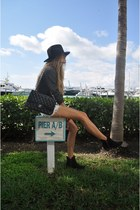 black somewhere in Santa monica boots - black StyleMint hat