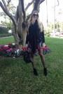 Maroon-velvet-issa-dress-black-iro-jacket-black-zara-scarf