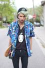 Black-no-face-gypsy-sale-shirt-navy-abstract-shirt-gypsy-sale-shirt