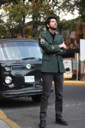 dark green military jacket Borrowed from Hen Evia jacket