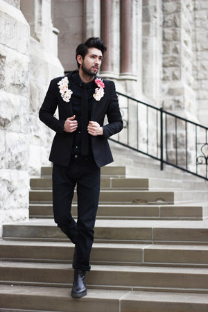 black DIY blazer