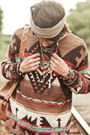 Brick-red-aztec-oversized-denim-and-supply-sweater