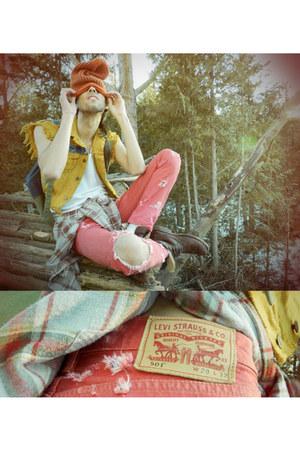 mustard levis vest diy Levis vest - ruby red 501 diy levis Levis jeans