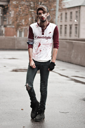 crimson baseball blood DIY shirt