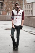 crimson baseball blood DIY shirt
