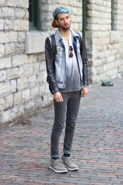 teal taper Aeon Attire jeans
