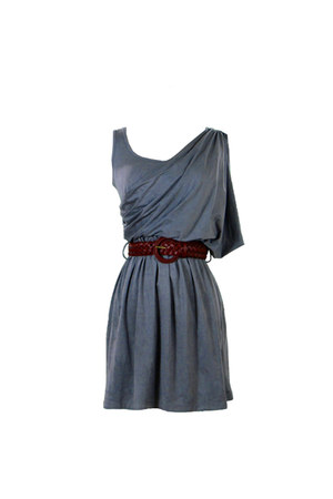 charcoal gray bohemian backbone dress