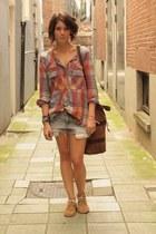 Etoile isabel marant blouse - Locals Ams boots - Mango bag - H&M shorts