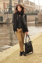 Mango boots - Zara jacket - Mango bag - Mango blouse - Etoile isabel marant pant