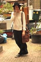 River Island hat - Mango bag - Primark skirt - Mango jumper