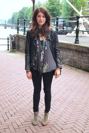 Zara jacket - Isabel Marant boots - Zara cardigan