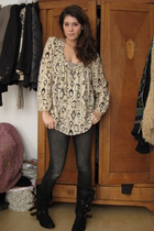 Laund Industry blouse - Zara boots - H&M jeans