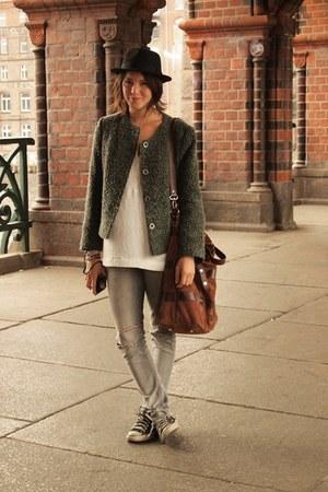 H&M jeans - vintage jacket - Mango bag - Zara blouse