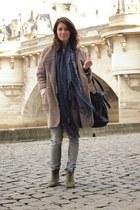 H&M Trend coat - Isabel Marant boots - Mango scarf